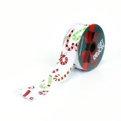 Cinta Polyester 38 mm Baston Navidad