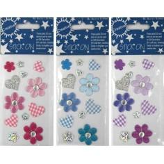 Pegatinas de flores y Corazones adhesivos (-50%)