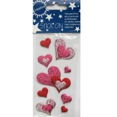 Pegatinas de corazones adhesivos (-50%)