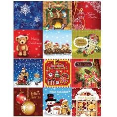 Tarjetas LIBRO RELIEVE - Modelo Navidad