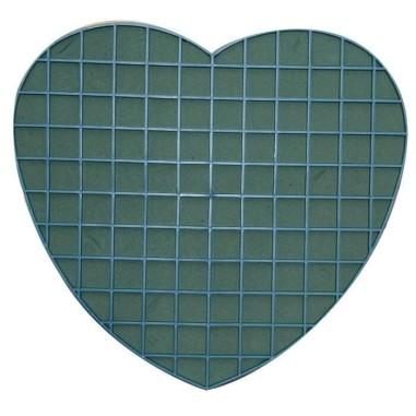 Corazón plástico con esponja - VENTOSA (30 CM)