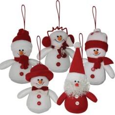Muñecos colgantes Navidad