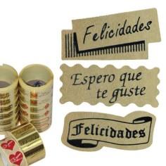 Etiquetas adhesivas - SURTIDO NEGRO