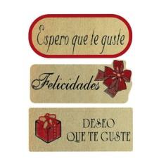 """Etiquetas adhesivas regalo - """"SURTIDO ROJO"""""""