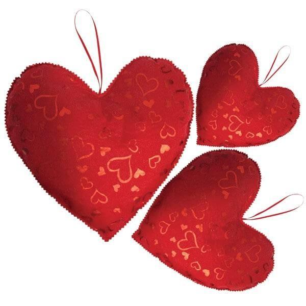 Corazon Tela 30 Decoracion San Valentin - Decoracion-san-valentin