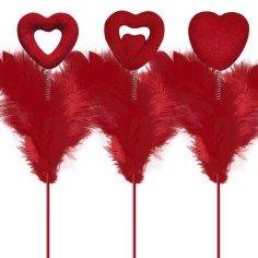 Pick Corazón Plumas