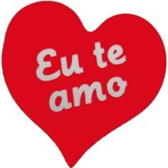 """Etiquetas Adhesivas Regalo - """"EU TE AMO"""" (Portugués)"""