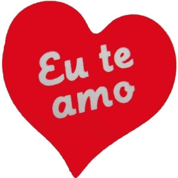 """Etiquetas Adhesivas Regalo - """"EU TE AMO"""" (Portugués"""