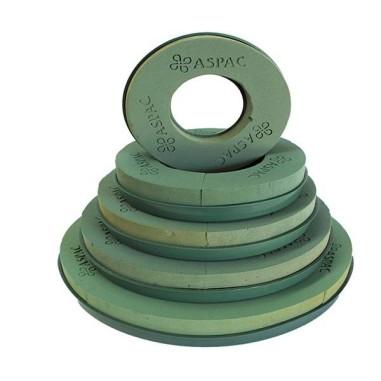 CORONA PLASTICO CON ESPONJA Ref. 6622 30cm diam x 5cm h