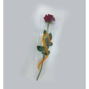 Bolsa de bouquet 1 tallo- Modelo SANT JORDI