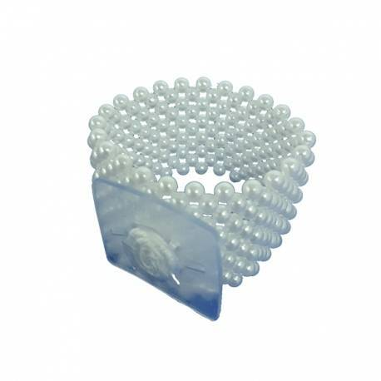 Brazalete Clásico Perlas Blancas