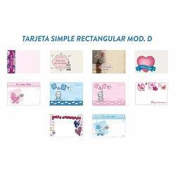 Tarjeta simple RECTANGULAR - Modelo D
