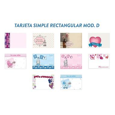 Tarjeta simple RECTANGULAR - Modelo D