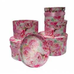 Cajas decorativas REDONDA FLOR (5 piezas)