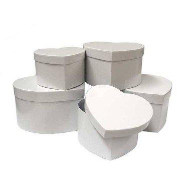 Cajas decorativas CORAZON (5 piezas)