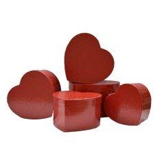Cajas decorativas CORAZON (5 piezas)(-30%)