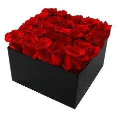Caja de Rosas Preservadas Cuadrada