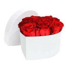 Caja de Rosas Preservadas Corazón