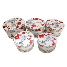 Caja decorativa FLORES (5 piezas)