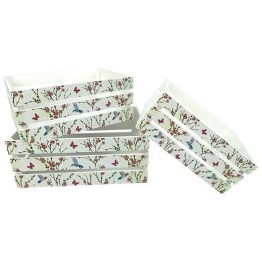 Caja madera COLIBRI (3 Piezas)