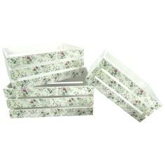 Caja madera FLORES (3 Piezas)