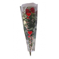 Bouquet Metal Corazon Rojo