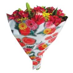 Bolsa de bouquet - METAL FLORES (50 unds.)