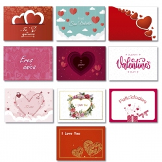 Tarjetas Simple Surtidas 4 San Valentín