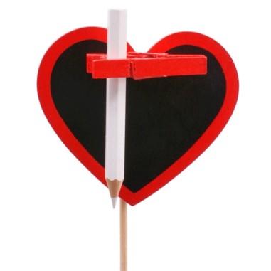 Pick Corazón Pizarra